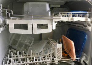 食器洗い乾燥機の実験2の乾燥後