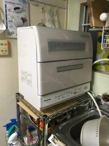 正面から見た食洗機