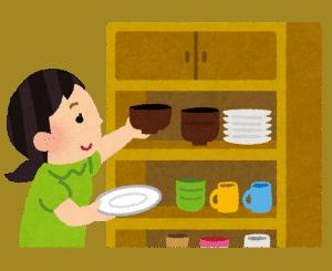 皿の片付け