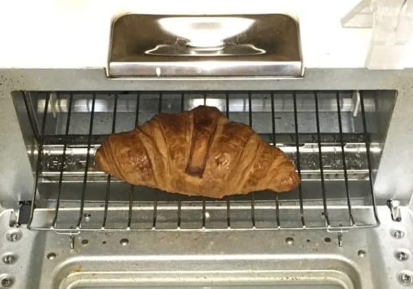 バルミューダで食パンを焼いてみた メゾンカイザー クロワッサン 水無しで焼いた直後