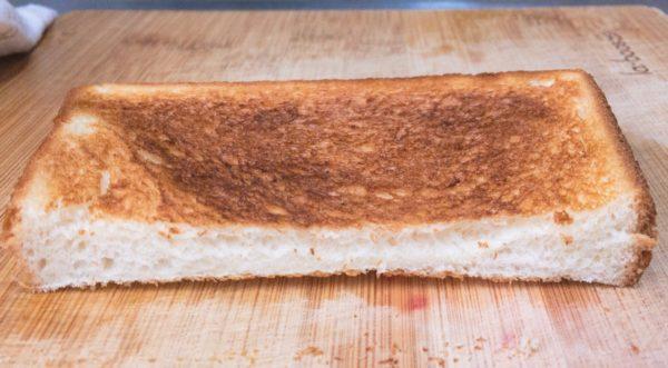 バルミューダで食パンを焼いてみた パルシステム しっとりもっちり食パン 水無しの場合