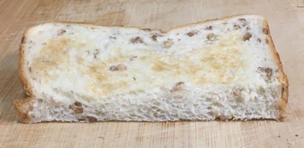 バルミューダで食パンを焼いてみた パスコ 超熟ライ麦入り 水無しの場合