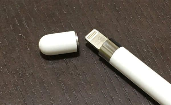 Apple Pencilのフタを外した画像