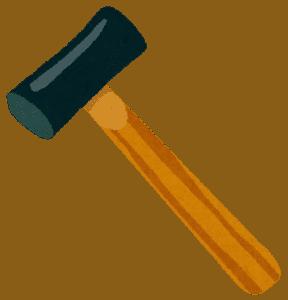 金槌のイメージ