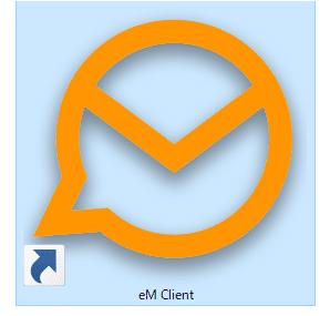 デスクトップの eM Client アイコン
