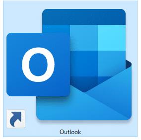 デスクトップのOutlookアイコン