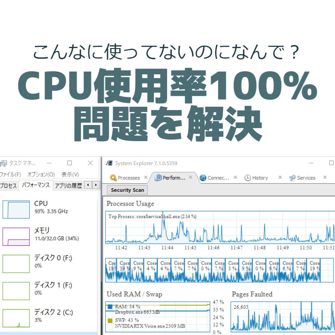 CPU使用率100%問題を解決する