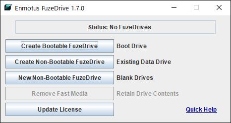 FuzeDrive 設定手順1