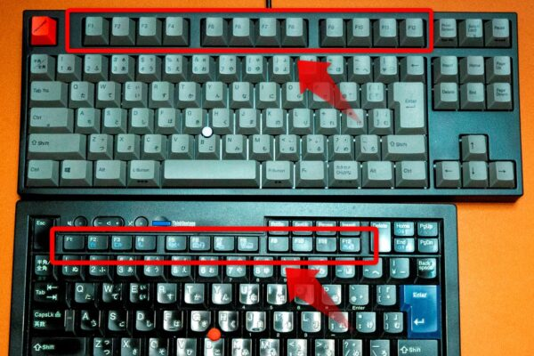 QuattroとThinkpadトラックポイントキーボードのホームポジションからのファンクションキーの距離の違いが大きな問題。