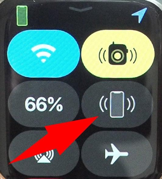 Apple WatchでiPhoneを呼び出すボタン