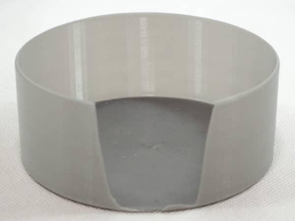 どんなに柔らかくても、壁や底が薄いと割れやすいです。これはPETGフィラメントであっても仕方がありませんね。