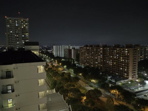 OPPO Reno5A 夜景モード 等倍